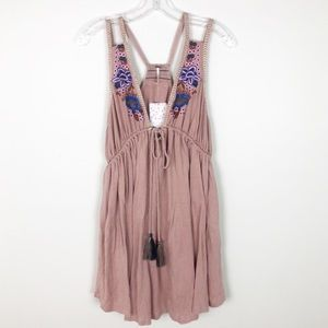 Free People Maeve Lovers Cove Embroidered Dress